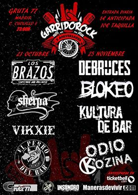 Los Brazos en el X Garrido Rock - Gruta77 Madrid